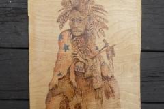 Pawnee warrior in Morning robe