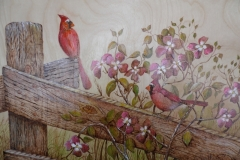 Cardinals and Dogwoods
