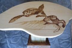 woodburned scrimshaw Turtles
