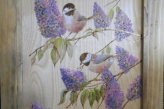 Lilacs and Chickadees